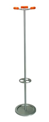 Velvet coatstand with umbrella ring