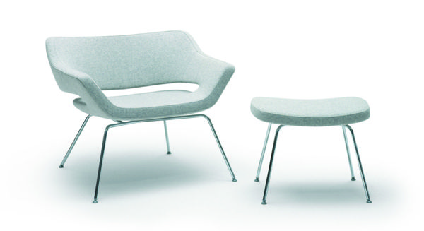 HM85 chair and foot-stool