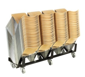 Multiple 40/4 chairs stacked
