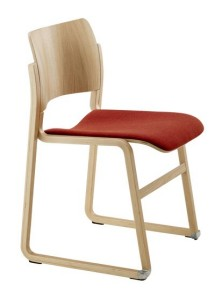 40/4 wood frame with seat pad