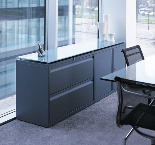 Sideboard with glass top