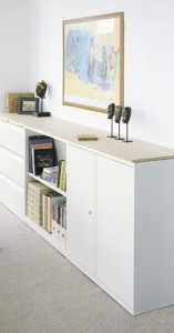 Bookcase and cabinets