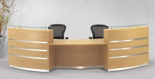 Eclypse reception desk - curved 2-person