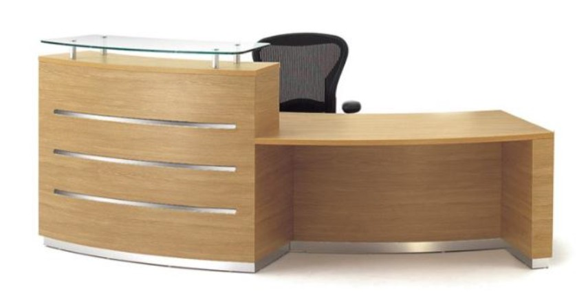 Eclypse reception desk - curved