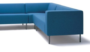 HM18 sofas linked with a corner unit