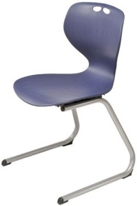 Mata chair on reverse cantilever base