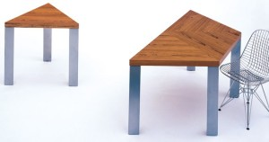 Textbook's A Series ad-hoc Teak tables