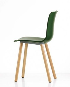 Hal chair on wood legs