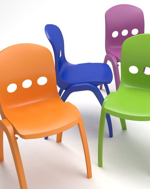 Max II, a colourful stacking chair