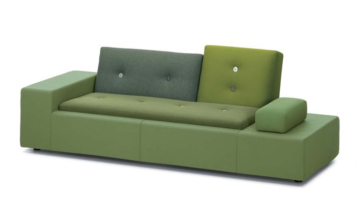 Polder sofa in shades of green