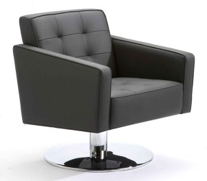 Sipper chair, black leather
