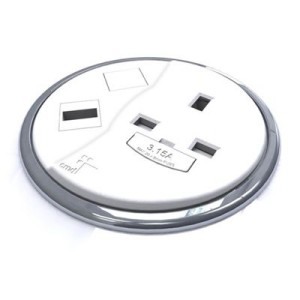 Porthole power+data outlet