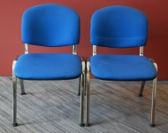 Blue stacking chair x2