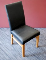 Upright chair - faux leather