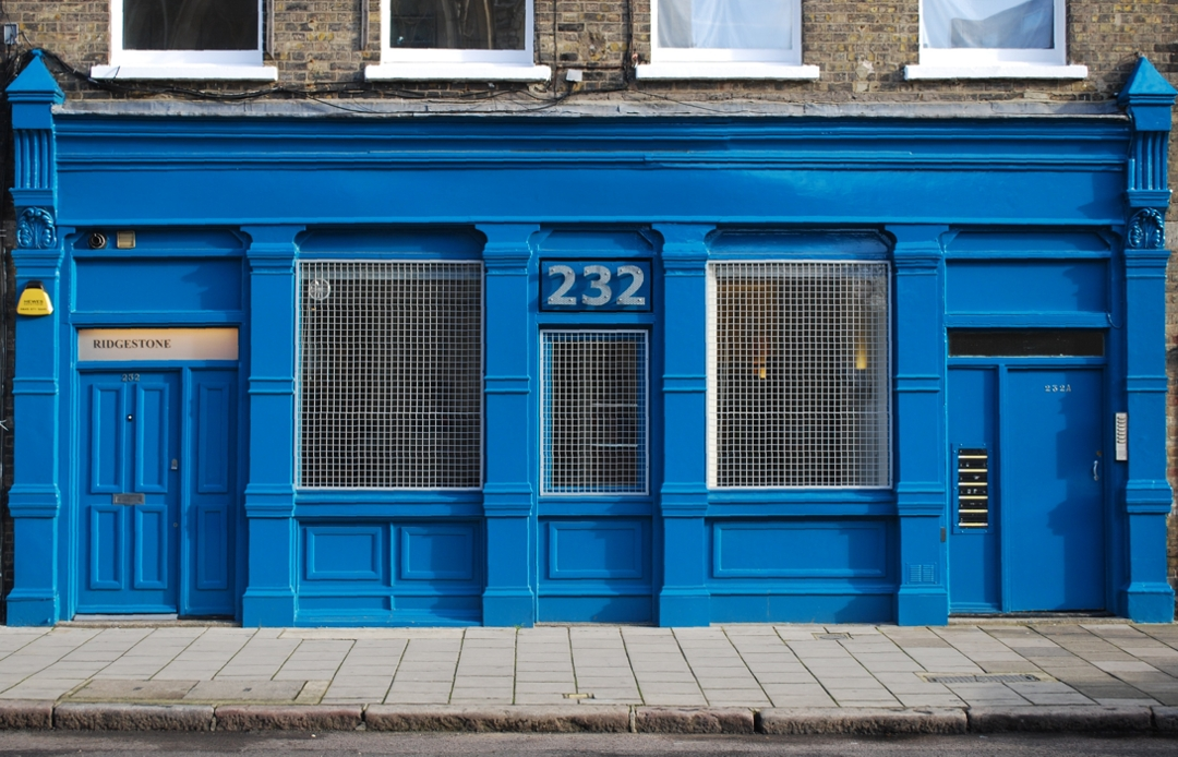 Ridgestone's bold, bright, light and lovely office and furniture showroom in Hoxton Street