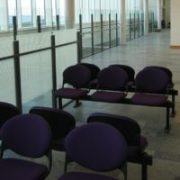 Durable and practical furniture and finishes in high traffice public concourse