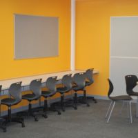 Vibrant internet cafe space promotes active learning