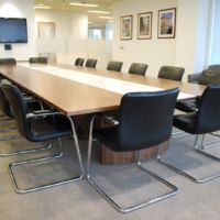 High quality adaptable furniture supports technical presentations and video conferences