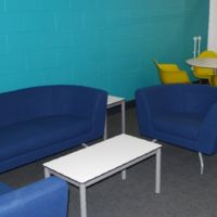 Warm and welcoming reception area with meeting point