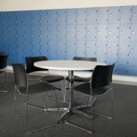 Secure storage space improved with meeting facilities