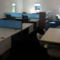 Space efficient workstations and meeting spaces